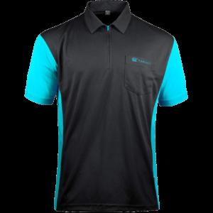 Target Coolplay Hybrid 3 Shirt Schwarz & Aqua Blau