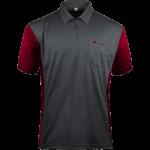 Target Coolplay Hybrid 3 Shirt Grau & Rubinrot