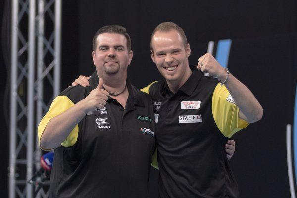 Das deutsche Duo 2020 bestand aus Gabriel Clemens und Max Hopp (Bild: PDC Europe/Kais Bodensieck)